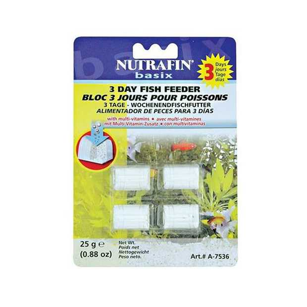 Nutrafin 3 Day Weekend Feeder Treasure Chest 4 Pack Pet: Fish Category: Fish Supplies  Size: 0.4kg...