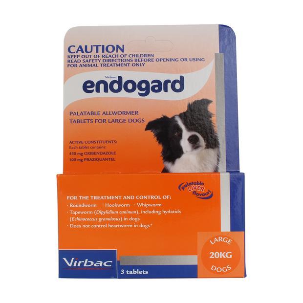 Virbac Endogard Wormer Large Dog 3 Pack Pet: Dog Category: Dog Supplies  Size: 0.1kg  Rich Description:...
