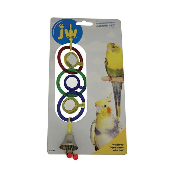 Jw Insight Triple Mirror With Bell Each Pet: Bird Category: Bird Supplies  Size: 0.1kg  Rich...