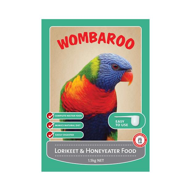 Wombaroo Lori And Honeyeater Food 300g Pet: Bird Category: Bird Supplies  Size: 0.3kg  Rich...