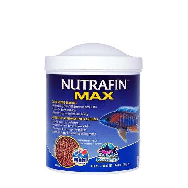 Nutrafin Max Cichlid Granules Medium 550g Pet: Fish Category: Fish Supplies  Size: 0.6kg  Rich...