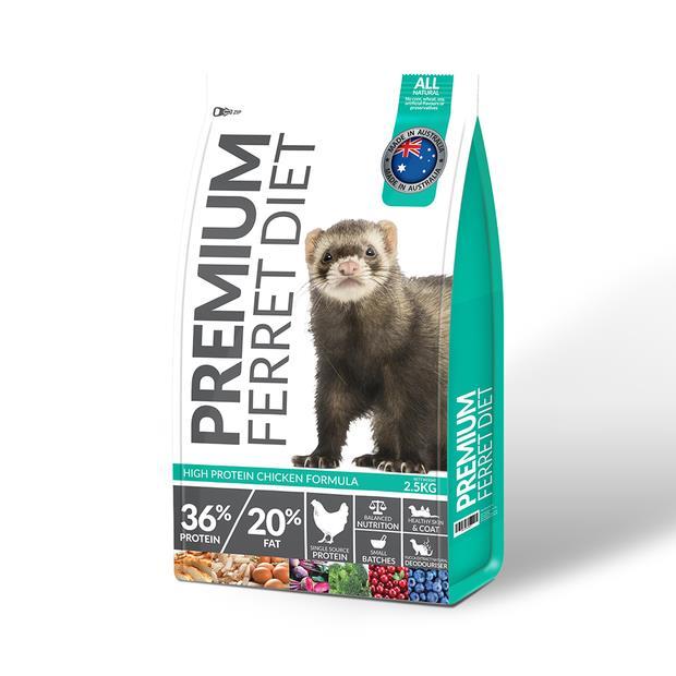 Premium Ferret Food Diet 2.5kg Pet: Small Pet Category: Small Animal Supplies  Size: 2.6kg  Rich...