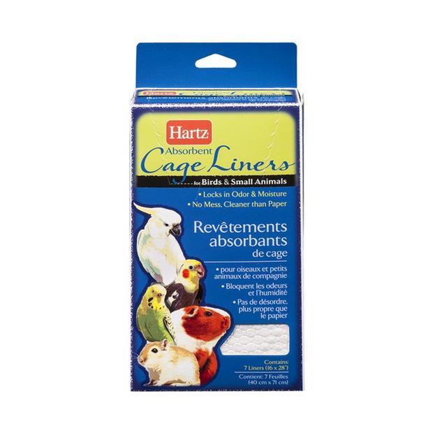 Hartz Bird Cage Liners 7 Pack Pet: Bird Category: Bird Supplies  Size: 0.2kg  Rich Description: Hartz...