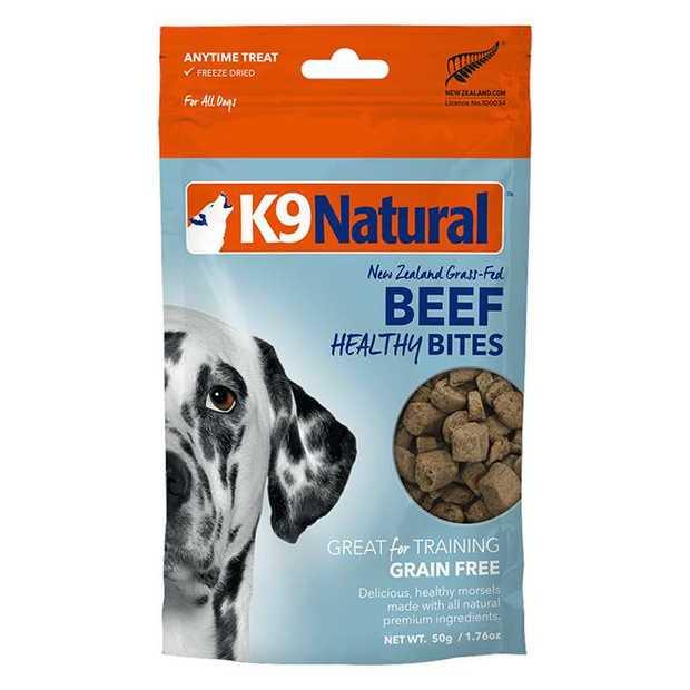 K9 Natural Dog Treats Beef Healthy Bites 50g Pet: Dog Category: Dog Supplies  Size: 0.1kg  Rich...