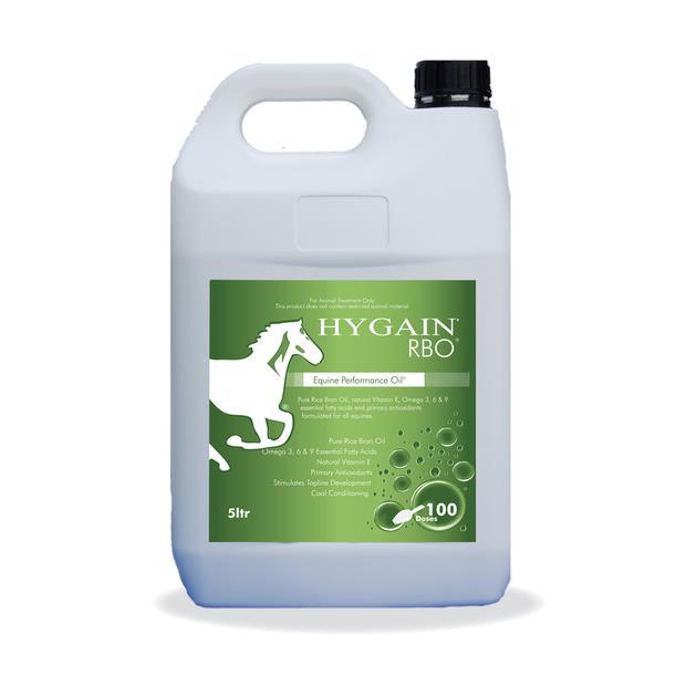 Hygain Rbo Oil 5L Pet: Horse Size: 5.2kg  Rich Description: Ideal for horses that require weight gain...
