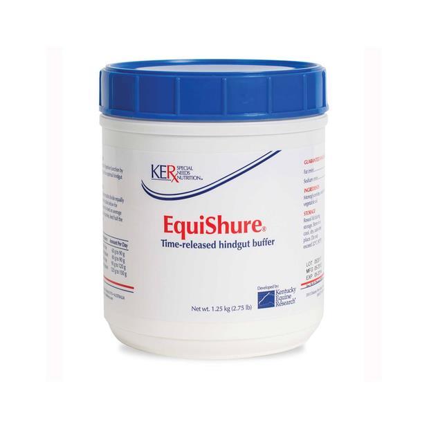 Ker Equishure 1.25kg Pet: Horse Size: 1.4kg  Rich Description: Suitable for Horses on high grain diets...