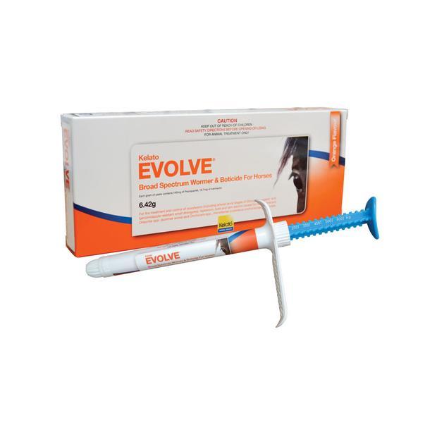 Kelato Evolve All Wormer And Boticide Paste 6.42g Pet: Horse Size: 0.1kg  Rich Description: Suitable...