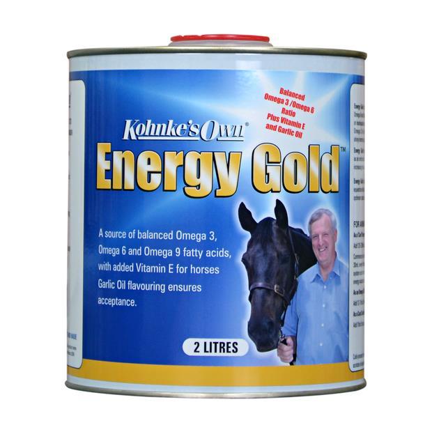 Kohnkes Own Energy Gold 2L Pet: Horse Size: 2.1kg  Rich Description: Suitable for horses requiring an...