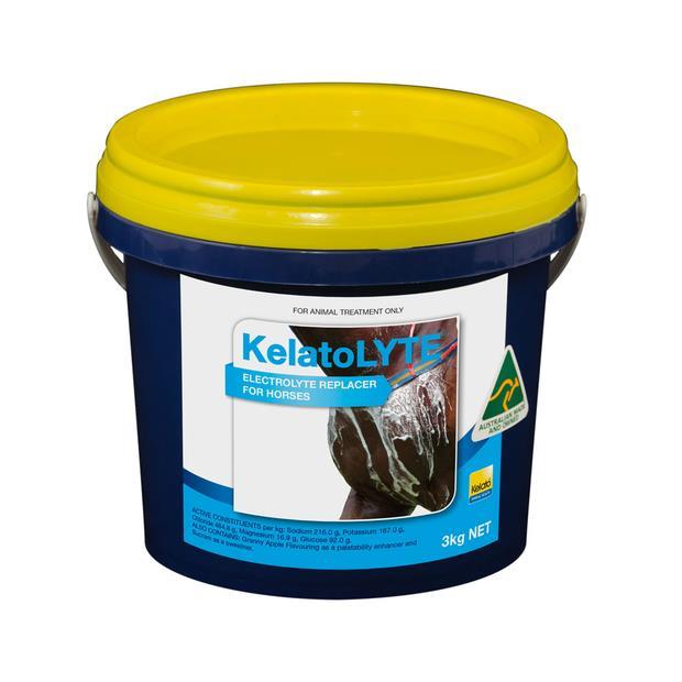 Kelato Lyte Electrolyte Replacer 3kg Pet: Horse Size: 3.1kg  Rich Description: Suitable for horses...