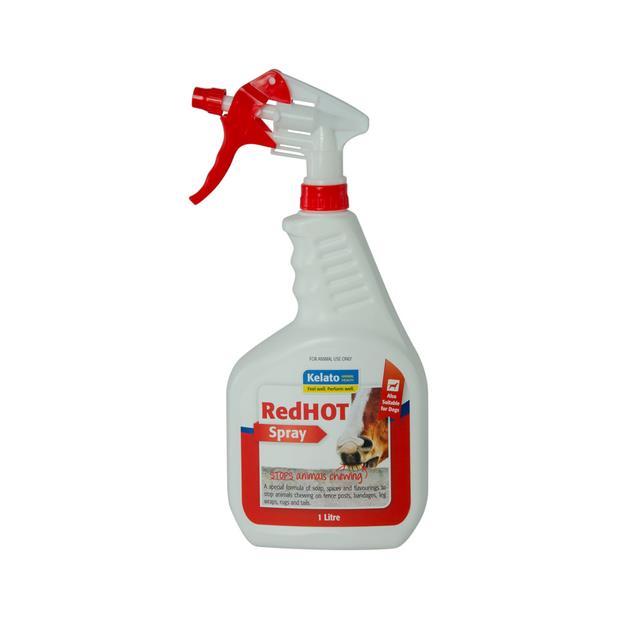 Kelato Red Hot Spray 1L Pet: Horse Size: 1kg  Rich Description: Suitable for horses who chew bandages...