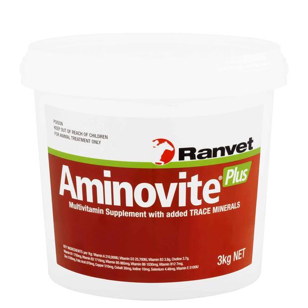 Ranvet Aminovite Plus 3kg Pet: Horse Size: 3.1kg  Rich Description: Suitable for high performance...