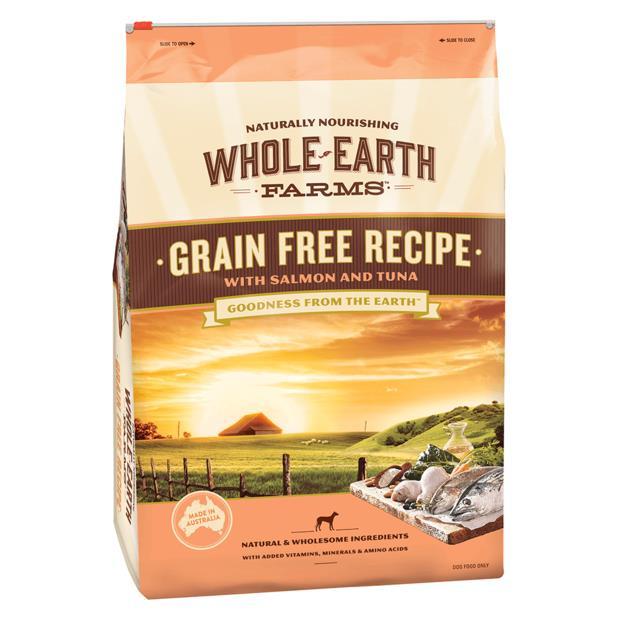 Whole Earth Farms Grain Free Recipe Dry Dog Food Salmon And Tuna 12kg Pet: Dog Category: Dog Supplies ...
