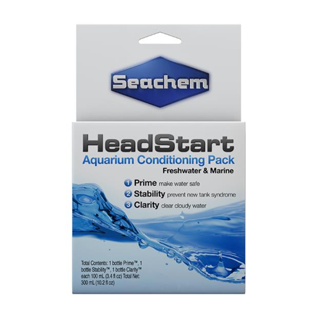 Seachem Head Start 3 Pack 100ml Pet: Fish Category: Fish Supplies  Size: 1.2kg  Rich Description:...
