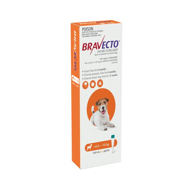 Bravecto Spot On For Dogs Orange 2 X 1 Pack Pet: Dog Category: Dog Supplies  Size: 0.1kg  Rich...