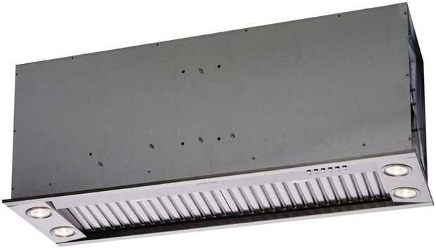550W Motor 1555 m3/h Airflow 3 Speeds plus Intensive 1W x 4 LED Lighting Stainless Steel Finish ...