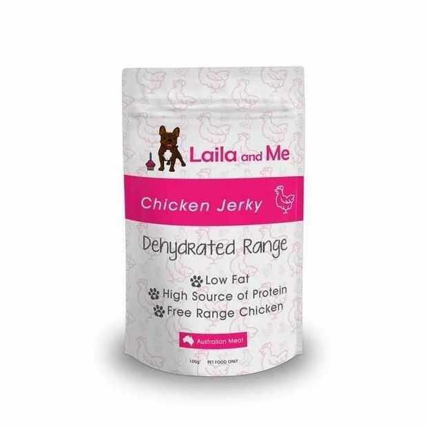 Laila & Me Dried Australian Chicken Jerky Dog Treat 100g