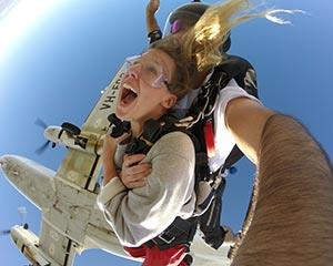 Experience the ultimate adrenalin rush with a tandem skydive over the picturesque Goulburn...