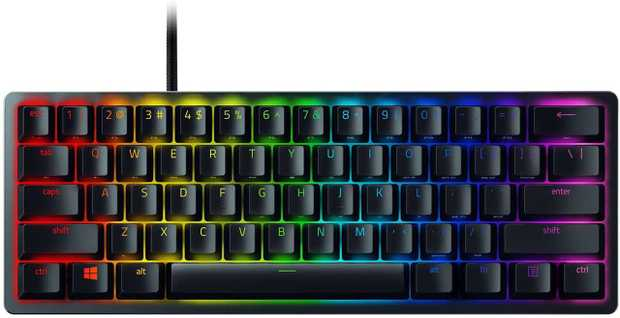 Razer Linear optical switches Ideal for minimalist or smaller setups Doubleshot PBT keycaps Onboard...
