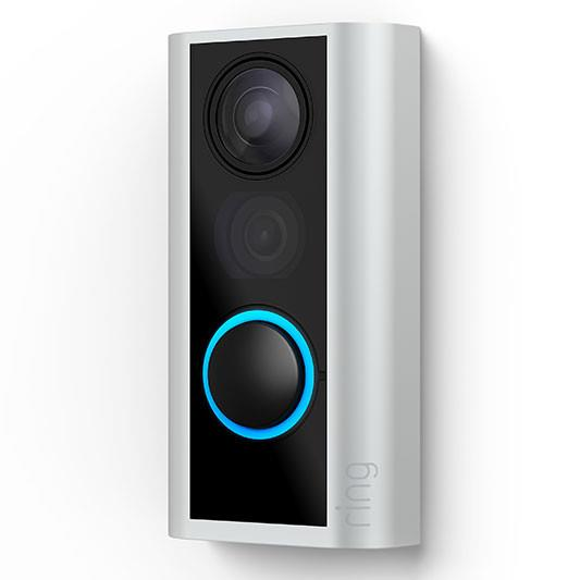 1080p HD Video Doorbell Works with Alexa Two-Way Talk Peephole With Privacy Cover Adjustable Motion...