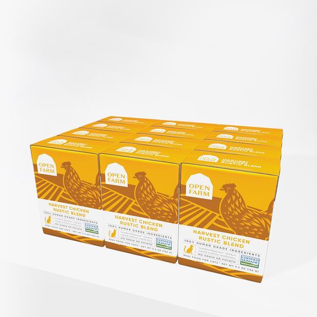 Open Farm Chicken Rustic Blend Wet Cat Food 12 X 155g Pet: Cat Category: Cat Supplies  Size: 1.9kg...