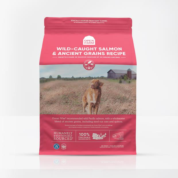 Open Farm Wild Salmon Ancient Grain Dry Dog Food 10kg Pet: Dog Category: Dog Supplies  Size: 10kg  Rich...