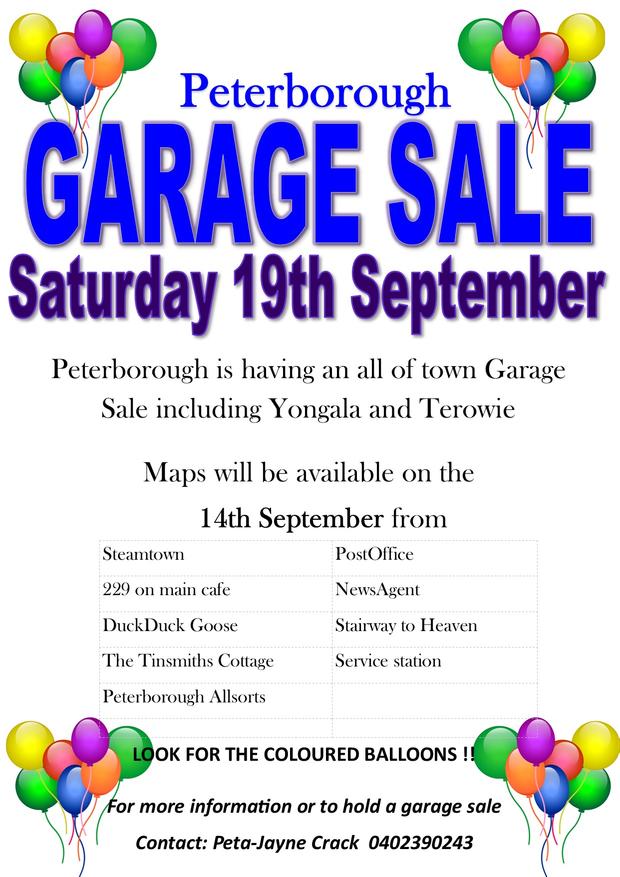 PETERBOROUGH131 Railway TerraceWHOLE OF TOWN GARAGE SALE - Peterbrough, Yogala an Terowie.30+ garage...