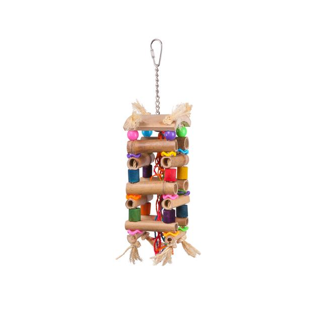 Kazoo Bird Toy Tower With Sisal And Beads Large Pet: Bird Category: Bird Supplies  Size: 0.1kg  Rich...