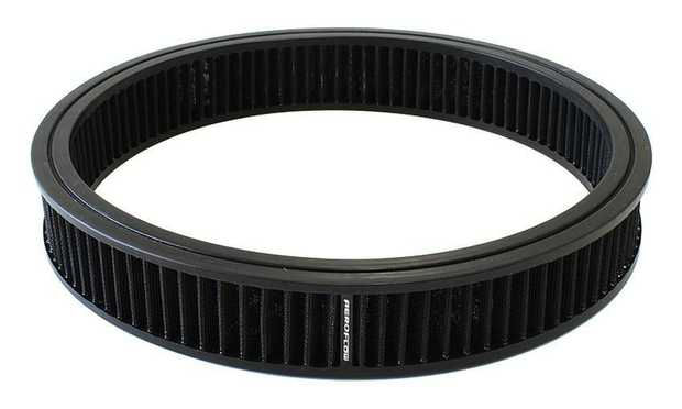 """Replacement Round Air Filter Element 14"""" x 3"""", washable cotton filter element equivalent to A133"""