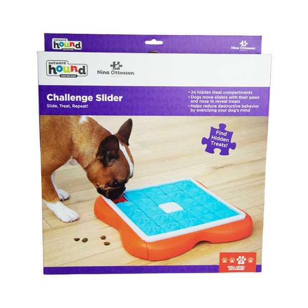 Nina Ottosson Challenge Slider Treat Dispensing Interactive Dog Game Level 2