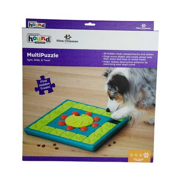Nina Ottosson Multipuzzle Treat Dispensing Interactive Dog Game Level 4