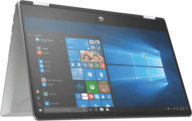 This HP Pavilion laptop's 2.1 GHz 10th Gen Intel Core i3 dual-core processor allows you to immerse...
