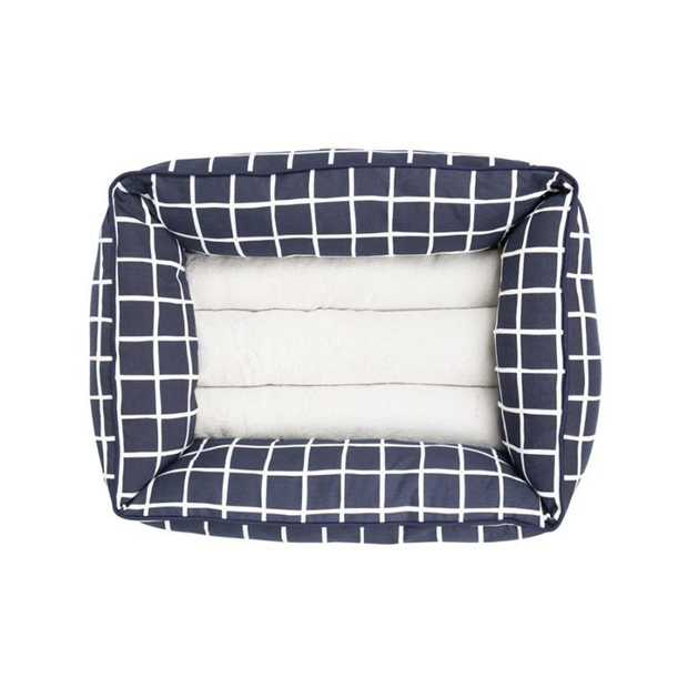 The Mog & Bone Bolster Bed Navy Check is a gorgeous comfy bed that will let your dog snuggle in...