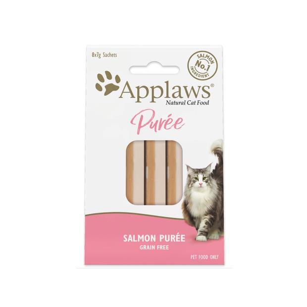 Applaws Cat Treats Puree Salmon 8x7g Pet: Cat Category: Cat Supplies  Size: 0.7kg  Rich Description:...