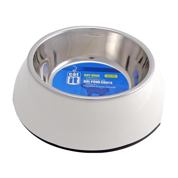 Catit 2 In 1 Style Durable Cat Bowl White Small Pet: Cat Category: Cat Supplies  Size: 1kg Colour:...