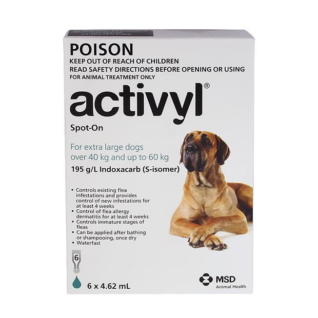 Activyl Very Large Dog 6 Pack Pet: Dog Category: Dog Supplies  Size: 0.1kg  Rich Description: Activyl...