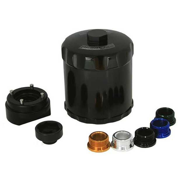 These billet reusable oil filters have a stainless steel 30 micron filter elements, it can be easily...