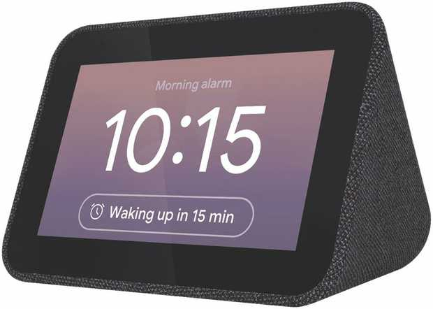 Designed to live on your nightstand, the Lenovo Smart Clock with the Google Assistant has a 4 touch...
