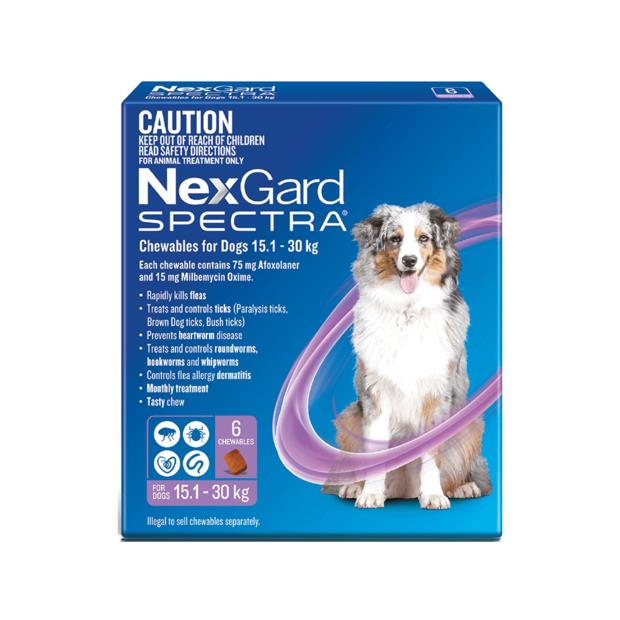 Nexgard Spectra Large Dog 2 X 6 Pack Pet: Dog Category: Dog Supplies  Size: 0.4kg  Rich Description:...