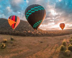 Hot Air Ballooning in the Hunter Valley over Australias oldest wine region. Experience the magic of...