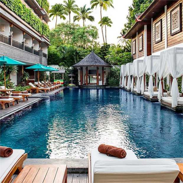 Escape to the award-winning Astagina Resort Villa and Spa Bali, a cocoon of tranquillity where tropical...