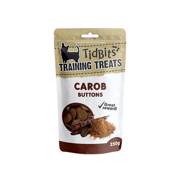 Tidbits Dog Treats Carob Buttons 250g Pet: Dog Category: Dog Supplies  Size: 0.3kg  Rich Description:...