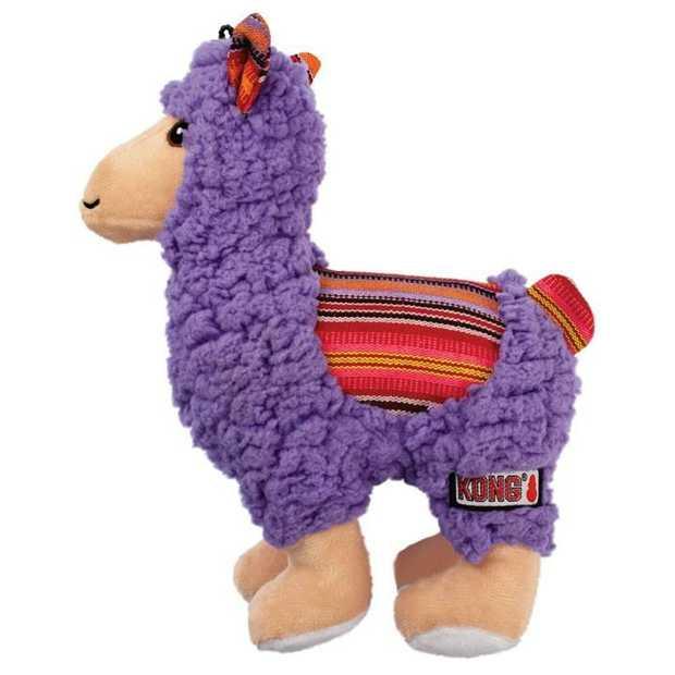 KONG Sherps Plush Dog Toy - Llama