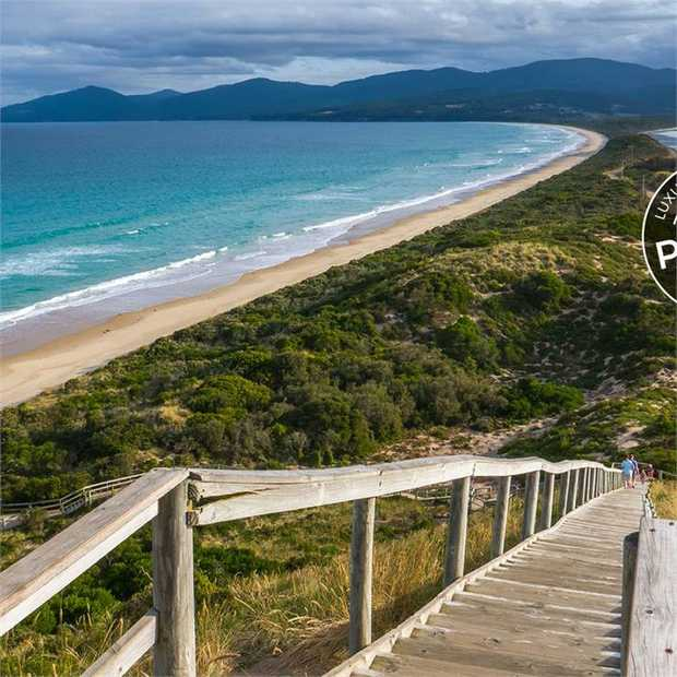 Bruny Island is the definition of untamed beauty. White-sand beaches, rugged sheoak forest and arctic...