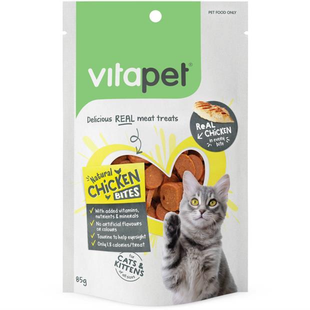 Vitapet Cat Treats Natural Chicken Bites 85g Pet: Cat Category: Cat Supplies  Size: 0.1kg  Rich...
