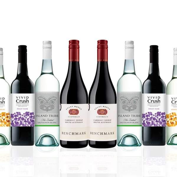 Like a fancy drop? You'll love today's premium mixed wine case, featuring two bottles Grant Burge...