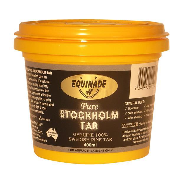 Equinade Stockholm Tar 4L Pet: Horse Size: 4.1kg  Rich Description: Suitable for All horses and ponies...