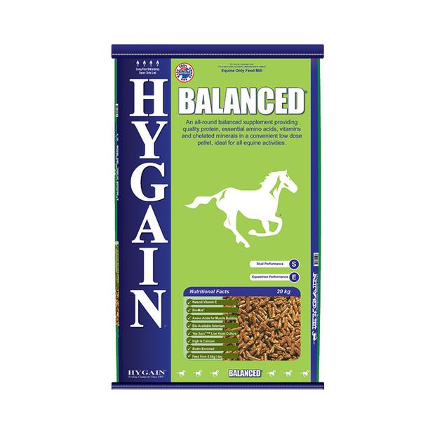 Hygain Balanced 40kg Pet: Horse Size: 40kg  Rich Description: Suitable for Horses on a pastureonly diet...