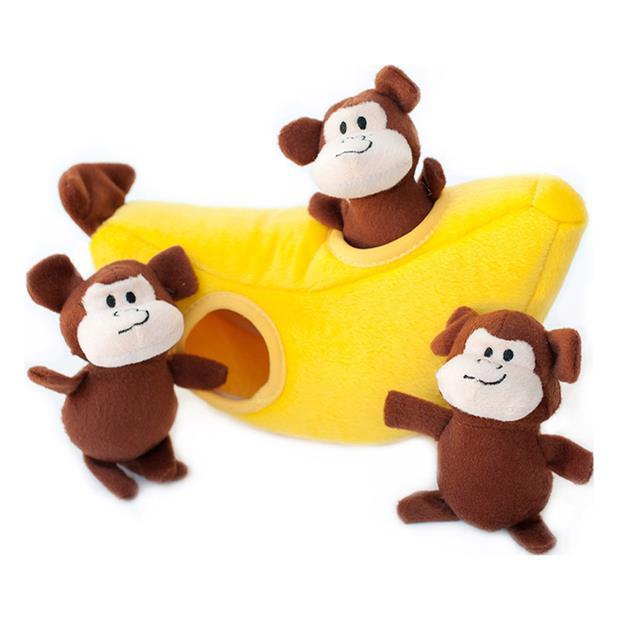 Zippypaws Zippy Burrow Monkey N Banana Each Pet: Dog Category: Dog Supplies  Size: 0.1kg Colour: Yellow...