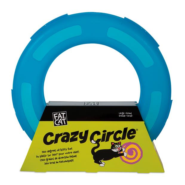Fat Cat Crazy Circle Cat Toy Large Pet: Cat Category: Cat Supplies  Size: 0.7kg Colour: Blue  Rich...