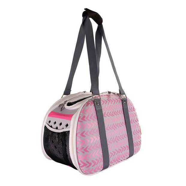 Pet Hardshell Travel Carrier - Pink Chevron
